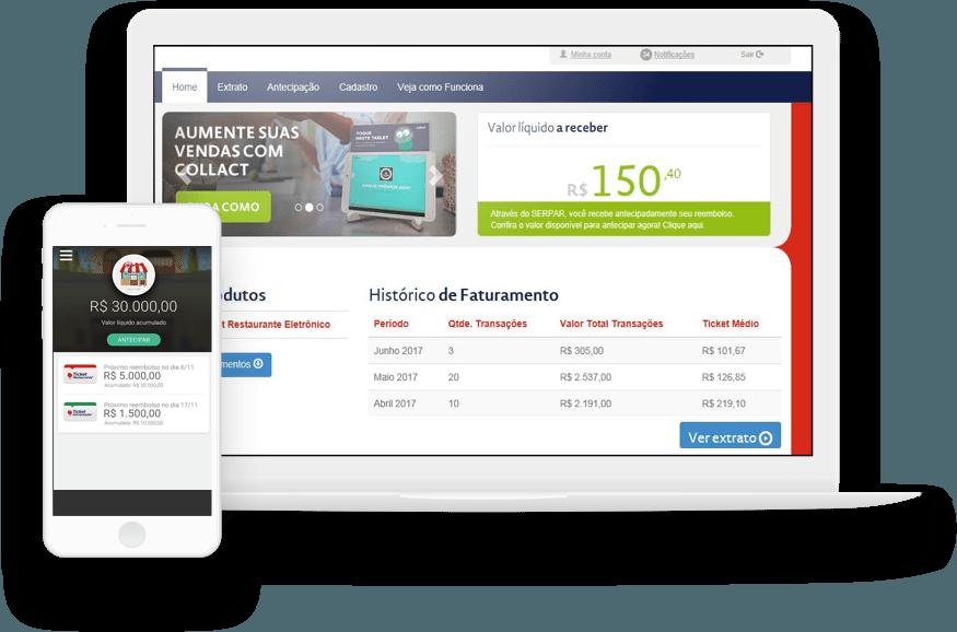 Portal para estabelecimentos credenciados à Ticket