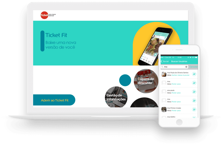 Rede social exclusiva APP Ticket Fit