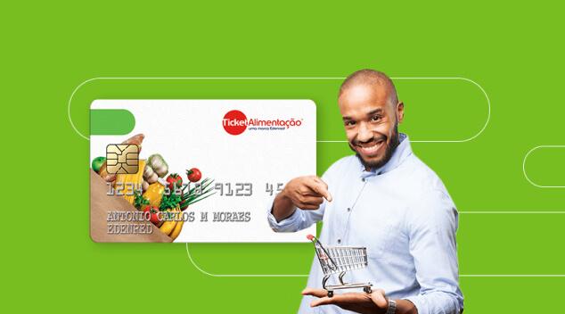 Icone Ticket Alimentação: uma cesta digital que traz a liberdade de escolha e deixa os seus colaboradores mais satisfeitos e produtivos.